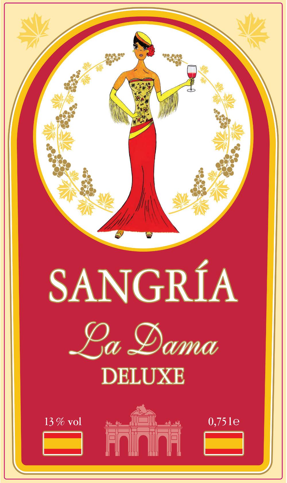Etiketten Sangria La Dama DELUXE